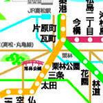 ことでん路線図 KOTODEN RAIL MAP