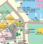 高松市内中心地図 MAP OF CENTRALTAKAMATSU